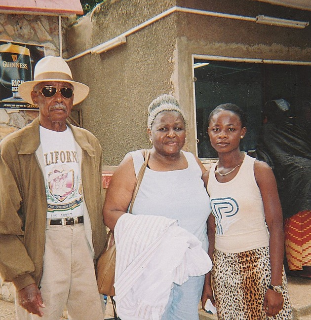 Hicey and Myrtle Ross in Ghana 2005